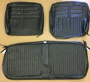 1963 Impala / Ss Bench W/o Armrest Seat Covers Black Pui 63bs55b In Stock