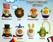All Time Circus Egg-xperience Figures Full Set Of 8 Toy Vending 2 Capsules New