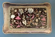 Custom 19th Century Authentic French Tapestry Panel Pillow Floral New