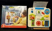 Vintage Disney Musical Busy Box For Babys Crib/playpen Sight And Sound Toy In Box