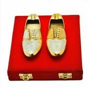 Set Of 2 Silver And Gold Plated Shoe Shaped Ashtray Bowl Gift Item Home Decor 6