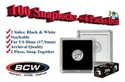 100 Bcw 2x2 Snaplock Holders Us Dime Size 17.9mm Hole Archival Capsules New Lot