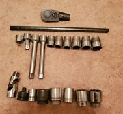 Snap On Armstrong Williams Proto 3/4 Drive Ratchet Handle Extensions Sockets 20
