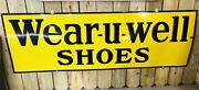Wear-u-well Shoes Porcelain Sign Carhart Workwear Red Goose Advertising