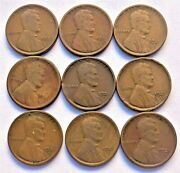 1921-s Wheat Cents Set Of 9 Coins 1 💥💥💥💥💥💥💥💥💥💥💥💥💥💥💥💥💥💥💥💥💥