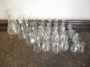 Lot Of 34 Used Pyrex 50ml To 1000ml Erlenmeyer Flask Free Shipping
