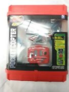 Spin Master Air Hogs Red Pocket Copter Helicopter New In Package