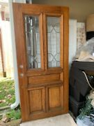 Custom Solid Wood Vintage Stained Glass French Style Entrance Door 36 X 78.5