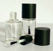 10 15ml 1/2oz Empty Glass Auto Body Car Paint Scratch Touch Up Bottle And Brush