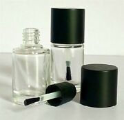 50 15ml 1/2oz Empty Glass Auto Body Car Paint Scratch Touch Up Bottle And Brush