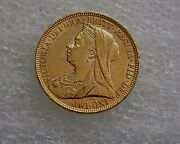 1894 Victoria Full Sovereign Gold Coin London Mint Xf