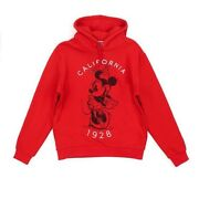 Disney Store Minnie Mouse Red And White Hooded Sweatshirt For Adults Large ⭐️