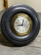 Vintage Custom Firestone Tire Electric Clock With Stand One Of A Kind