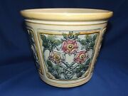Weller Pottery Roma Jardiniere 7 3/4h X 9 3/8w Flowers And Vines No Chips Fine