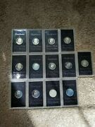 1972 United States 40 Silver Eisenhower Proof Dollar Lot Of 13