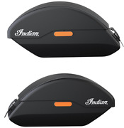 Indian Motorcycle Blk Quick Release Semi Rigid Saddlebags 2015-2020 Scout, Sixty