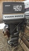 1970's Volvo Penta 450 45 Hp Outboard Motor Complete 20 Shaft For Parts