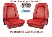 Fully Assembled Oe Reclining Deluxe Seats And Rear Cover 1967 Camaro Convertible
