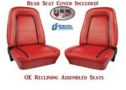 Assembled Oe Reclining Deluxe Seats And Rear Cover 1967 Camaro W/ Standard Frame
