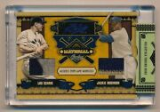 2008 Prime Cuts Lou Gehrig Jackie Robinson Dual Game Worn Patch 2/2