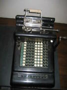 Vintage Collectible Refurbished Burroughs 9 Digit Adding Machine Early 1900and039s