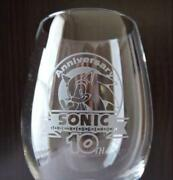 Ltd.event Sony Sonic The Hedgehog 10th Anniversary Wineglass In Mint Condition