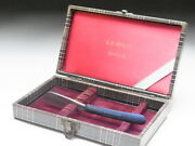 Very Rare Antique Box For Straight Razors Used At A Barber Shop In Japanf-130