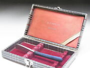 Very Rare Antique Box For Straight Razors Used At A Barber Shop In Japanf-134