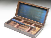 Very Rare Antique Box For Straight Razors Used At A Barber Shop In Japanf-140