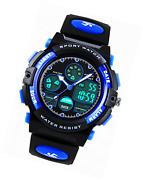 Kids Digital Analogue Watches For Boys - Childrens Outdoor Sports Watch With Ala