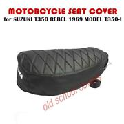 Motorcycle Seat Cover Suzuki T350 Rebel 1969 Model T350-i And Seat Strap