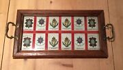 Vintage Military Tray Black Watch Coldstream Guards Connaught Rangers Silk Badge