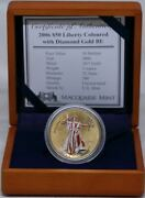 United States Of America 2006 Gold 50 Dollars Liberty - Coloured With Diamond