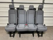 2015-2020 Ford Transit Oem Seat Gray Cloth Last 5th Row Seat Complete