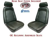 Fully Assembled Oe Reclining Seats And Folding Rear Seat Upholstery 1969 Camaro
