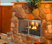 Majestic Villa Outdoor Gas Fireplace Stainless Steel 36 Ng Odvillag-36t