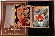 Disney Pin Storybook Stitch Dinosaur Jumbo Stained Glass Pins Set/lot Le 750