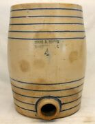 Frank B Norton And Sons Stoneware Water Cooler Antique Cobalt Blue Worcester, Ma
