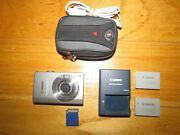 Canon Sd790 Is Digital Camera Powershot Is Elph 10.0 Mp W/ 1gb Card Case Charger