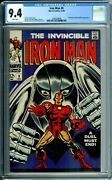 Iron Man 8 Cgc 9.4 White Pages Gladiator App Marvel Silver Age 1968 New Cgc Case
