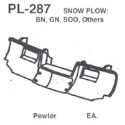 Details West Pl-287 - Snow Plow Bn, Gn, Soo, And Others - Ho Scale