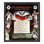 Germany 2014 Fifa World Cup Champions Team Signed Soccer Jersey Kroos Gotze Lahm