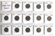 14 Indian Head Pennies 1896 Thu 1909 All With Very Good Readable Dates.