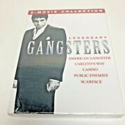 Legendary Gangsters 5 Movie Collection Dvd Casino/public Enemies/scarface/etc