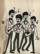 The Beatles 1960and039s Kids Shirt Vintage And Very Rare Cartoon Print Youth Size 12