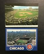 Lot 2 Vintage Wrigley Field Chicago,il Postcard Illinois Chicago Cubs Rare
