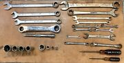 Mixed Lot Of 27 Blue Point Tools Sae / Metric • Wrenches, Sockets • Usa