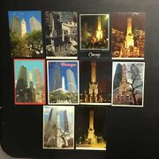 Lot 19 Vintage Water Tower Building Chicago,il Postcard Illinois Michigan Ave.