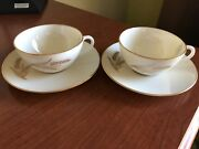 Lenox China Wheat Pattern R-442 - Cup And Saucer Lot Of 2