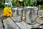 Antique Christofle Set Of Two Cups Mugs Goblets Christening Silver Plated